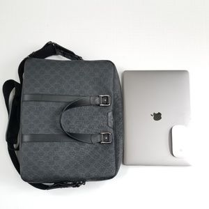 GUCCI GG Supreme Briefcase Laptop Bag